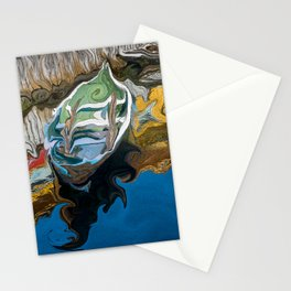 Norwegian Row Boat And Reflections Stationery Cards
