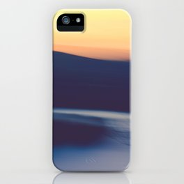 Mountain Sunrise Over Lake - Long Exposure Abstract iPhone Case