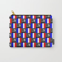 Flag and portrait: Victor Hugo Carry-All Pouch