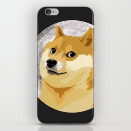 Doge to the Moon! iPhone Skin