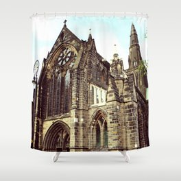glasgow cathedral medieval cathedral Shower Curtain