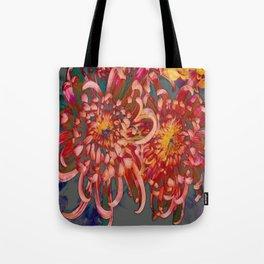 Chrysanthemum-Red/Pink/Yellow Tote Bag