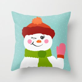Chill Snowgirl Throw Pillow