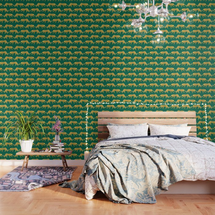 The New Animal Print - Emerald Wallpaper by apartmenttherapy