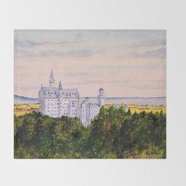 Neuschwanstein Castle Bavaria Germany Throw Blanket