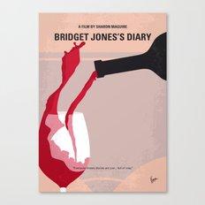 No563 My Bridget Jones Diary minimal movie poster Canvas Print
