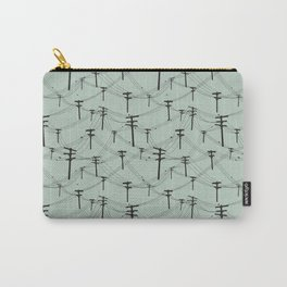 telephone lines repeating pattern Carry-All Pouch