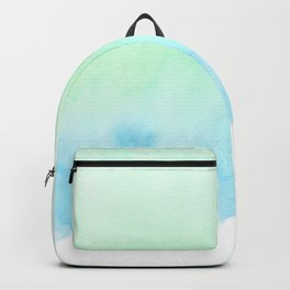 Hand painted turquoise teal blue watercolor ombre brushstrokes Backpack