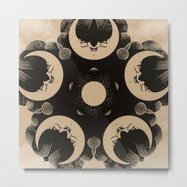 Ouija Wheel of the Moon - Beyond the Veil Metal Print