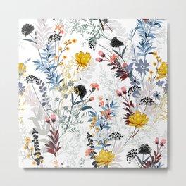 organic floral print Metal Print