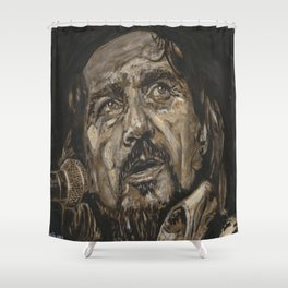Waylon Jennings Shower Curtain