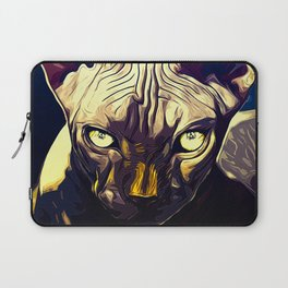 sphynx cat from hell vafn Laptop Sleeve