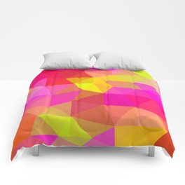 Citrus Candy Low Poly Comforters