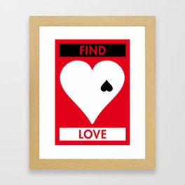 Illustrated new year wishes: #3 FIND LOVE Framed Art Print