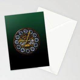 JPN clock Stationery Cards