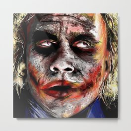 The Joker Painted Metal Print