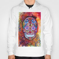 sugar skull Hoodies featuring Sugar Skull by oxana zaika