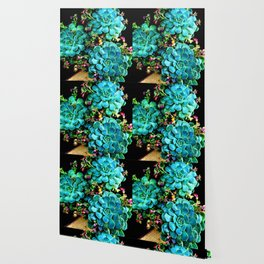 Beautiful Autumn plant green, blue Wallpaper