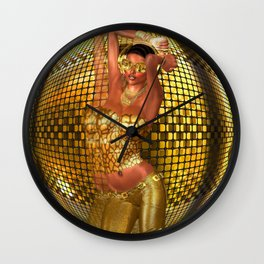 Disco ball dance girl Wall Clock