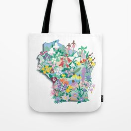 Wisconsin Wildflowers Tote Bag