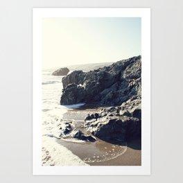 the beach in Cayucos Art Print