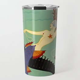 "Art Deco Illustration ""Water"" Travel Mug"