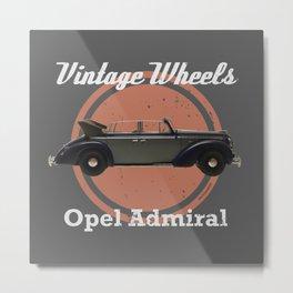 Vintage Wheels: Opel Admiral Metal Print