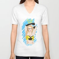 britney spears V-neck T-shirts featuring Britney Spears by IssaBlack