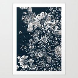 midnight blues Art Print