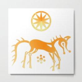 Sun Foal Metal Print