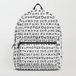 ABC on White Backpack