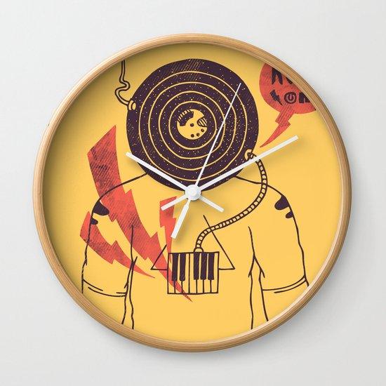 The Vinyl Frontier (alternate) Wall Clock