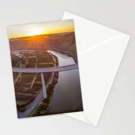 Mosel river panorama Stationery Cards
