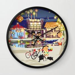 HOI-AN LANTERN LIGHTS Wall Clock