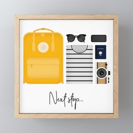 Next stop Framed Mini Art Print