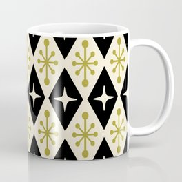 Mid Century Modern Atomic Triangle Pattern 123 Coffee Mug