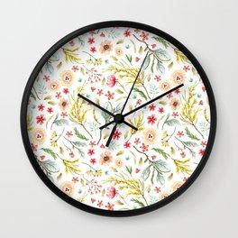Wildflower Bunch Wall Clock