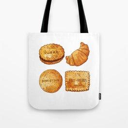 watercolor croissant Tote Bag