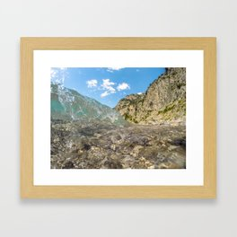 Clear as Ice Framed Art Print