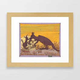 Roo Love Framed Art Print