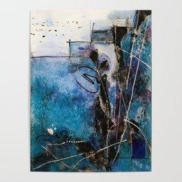 Midnight Sky, Acrylic artwork Poster