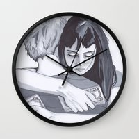 new zealand Wall Clocks featuring New Zealand  by artsyape