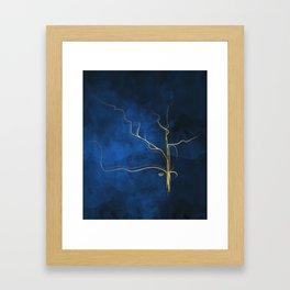 Kintsugi Electric Blue #blue #gold #kintsugi #japan #marble #watercolor #abstract Framed Art Print