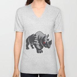 Angry rhino Unisex V-Neck