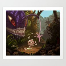 Land Angler Art Print