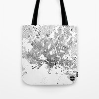 oslo Tote Bags featuring OSLO by Maps Factory