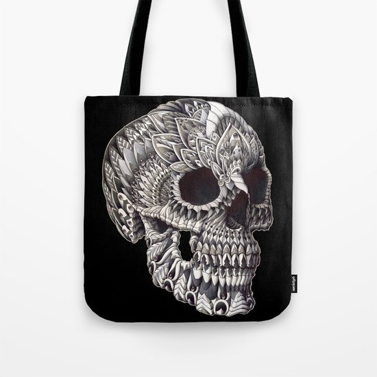 Ornate Skull Tote Bag
