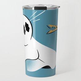 A Fearful Phantom (Teal) Travel Mug