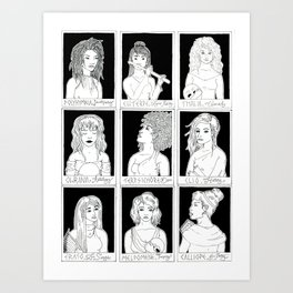 The Muses Art Print