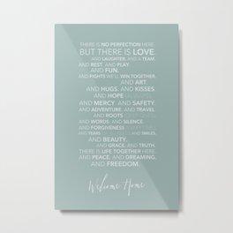 Family Manifesto (Teal) Metal Print